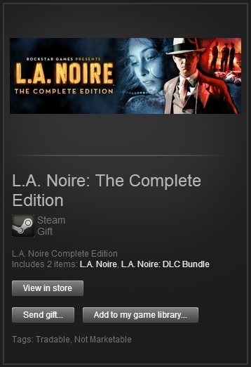 L.A. Noire: Complete Edition (SteamGift, ROW) + ПОДАРОК