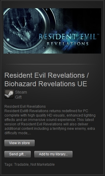 Resident Evil / Biohazard Revelations (Steam, RegFree)