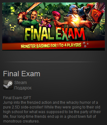 Final Exam (Region Free) Steam Gift