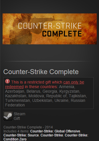 Counter-Strike Complete (Steam Gift / RU&CIS)