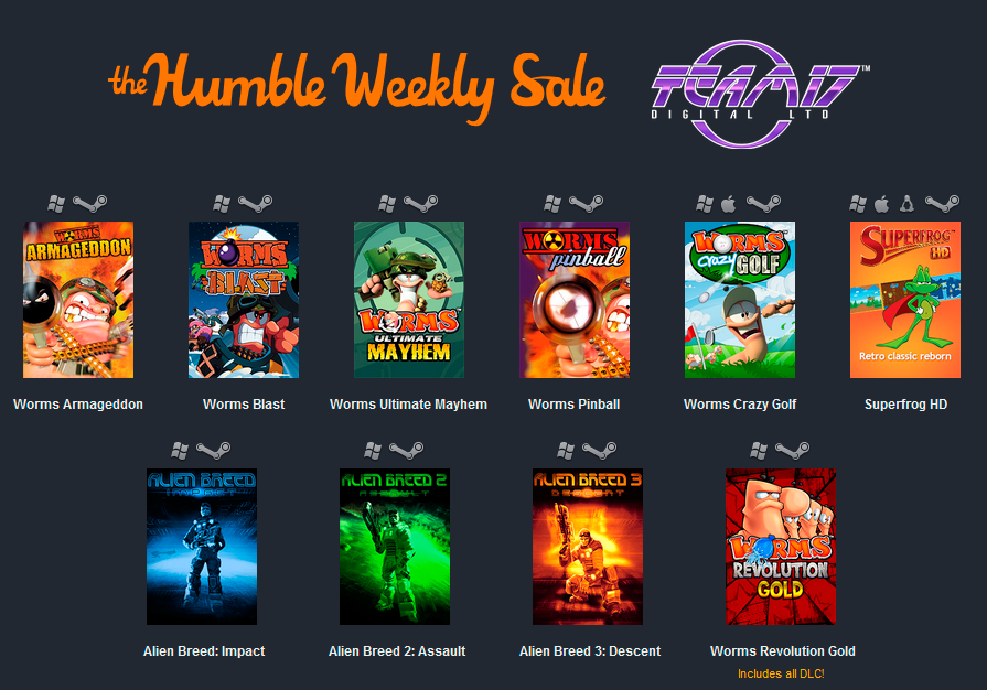 Humble Weekly Sale: Team 17