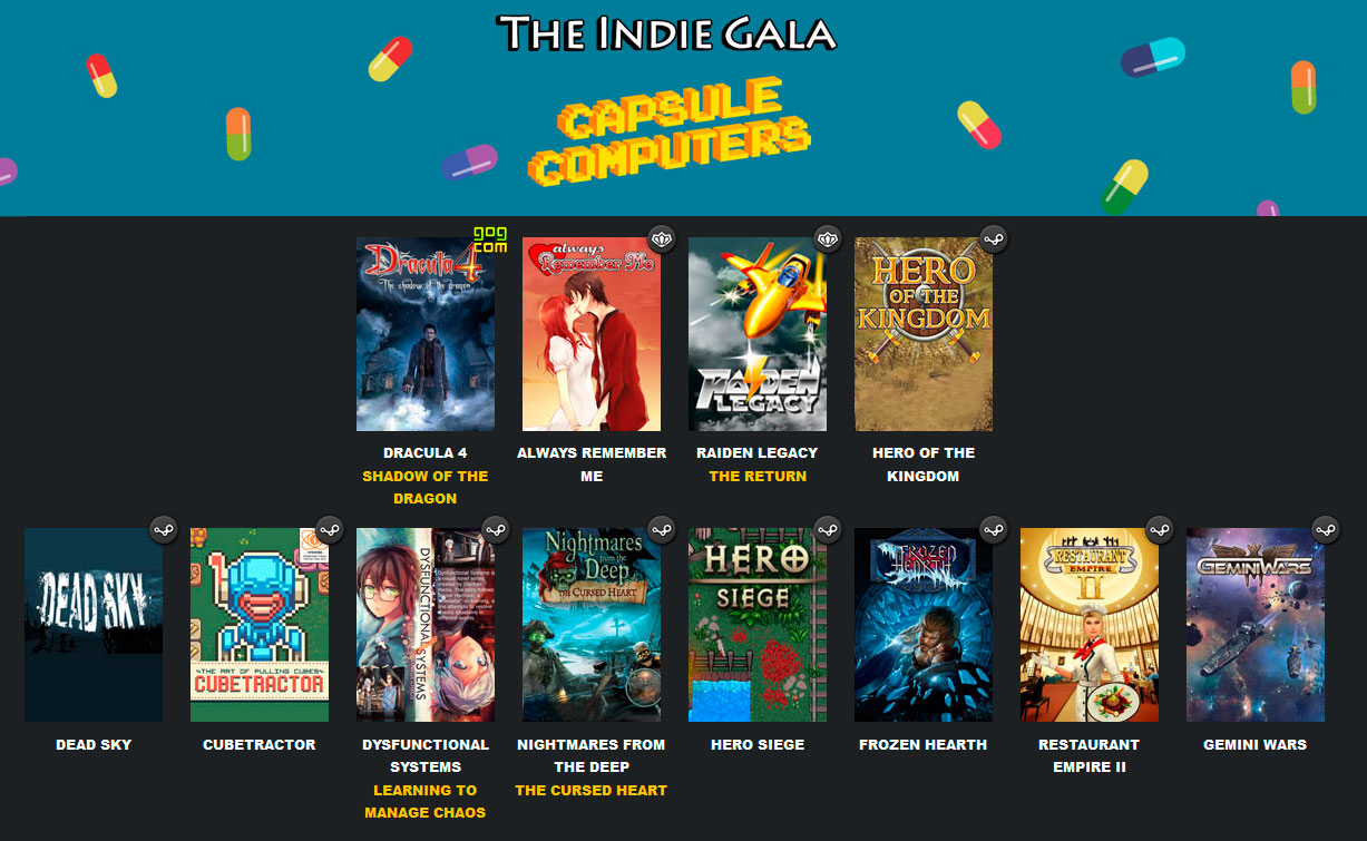 IndieGala Capsule Computers bundle
