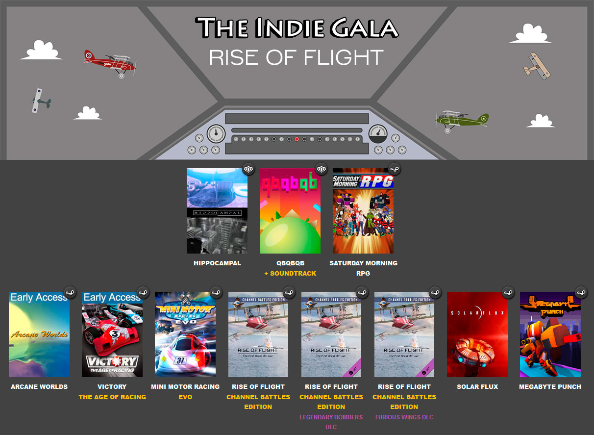 IndieGala Rise Of Flight Bundle / 9 игр и 2 дополнения
