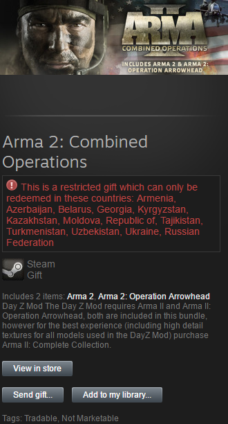 Arma II 2: Combined Operations (Steam Gift / RU / CIS)