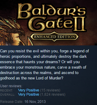Baldur´s Gate II: Enhanced Edition (Steam KEY / ROW)