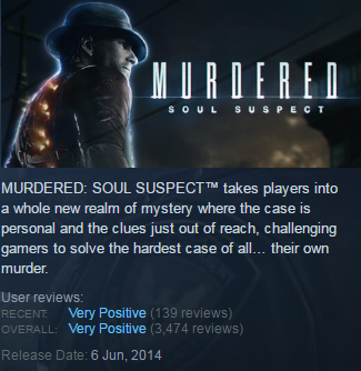 Murdered: Soul Suspect (Steam KEY / Region free / ROW)