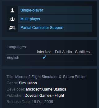 Microsoft Flight Simulator X (Steam KEY / Region free)