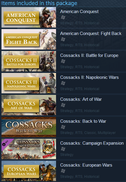 Cossacks and American Conquest Pack (Steam gift / ROW)