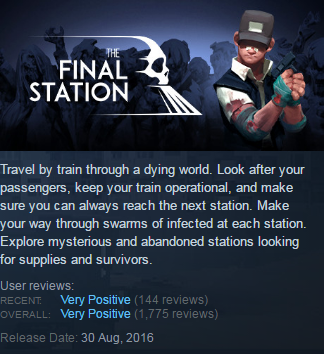 The Final Station (Steam KEY / ROW / Region free)