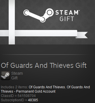 Of Guards And Thieves Permanent Gold Account Steam gift
