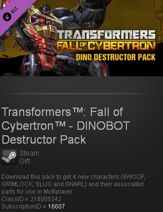 Transformers Fall of Cybertron -DINOBOT Destructor Pack