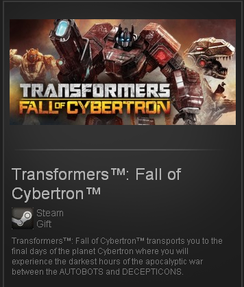 Transformers: Fall of Cybertron(Steam Gift/Region Free)