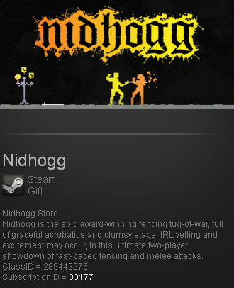 Nidhogg (Steam gift / ROW / Region free / WorldWide)