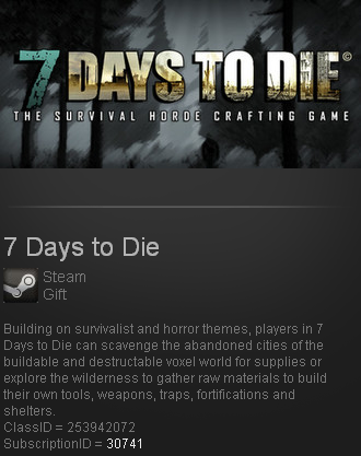 7 Days to Die (Steam gift / ROW / Region free / Global)