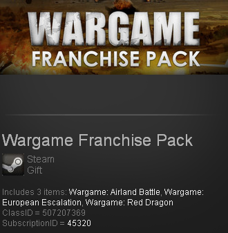 Wargame Franchise Pack (Steam gift / ROW / RegionFree)