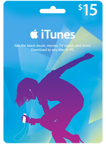 iTunes Gift Card 15$ (USA/SCAN) СУПЕР ЦЕНА