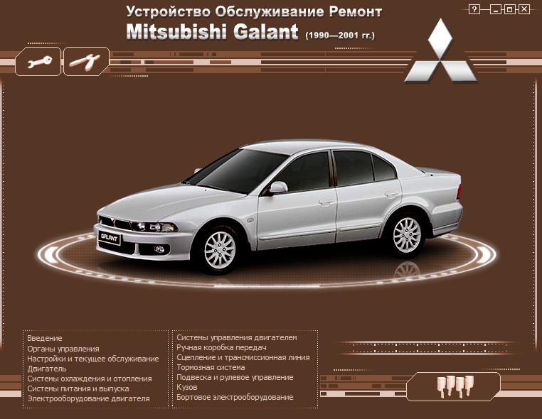 Электр. руководство для  Mitsubishi.Galant 1990-2005 г.