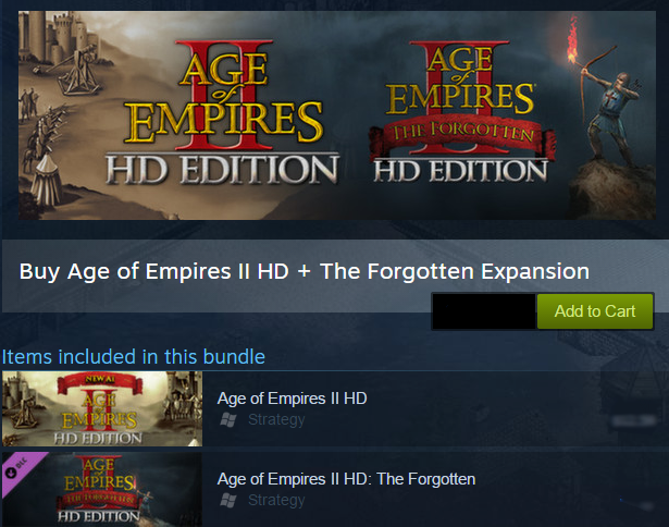 Age of Empires II HD+The Forgotten Exp (Steam Gift\ROW)
