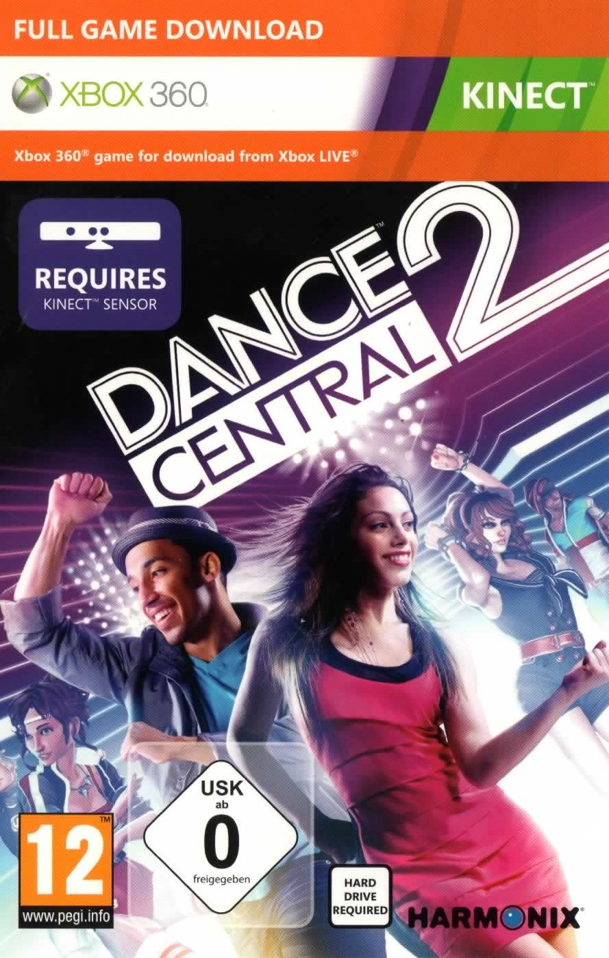 Dance Central 2+Panda Kung Fu 2+ xbox 360