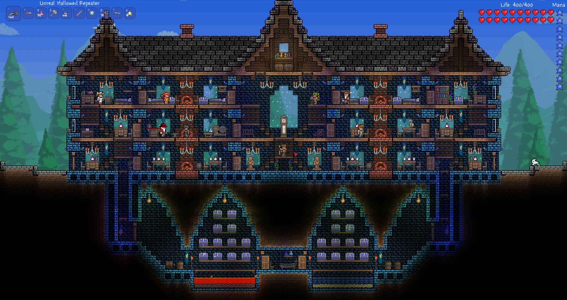 Как сделать дома для жителей террарии