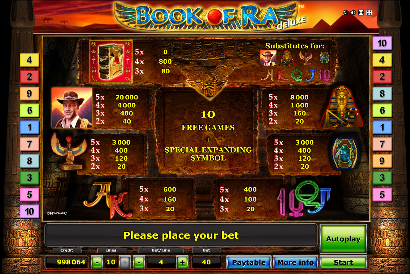 online casinos book of ra