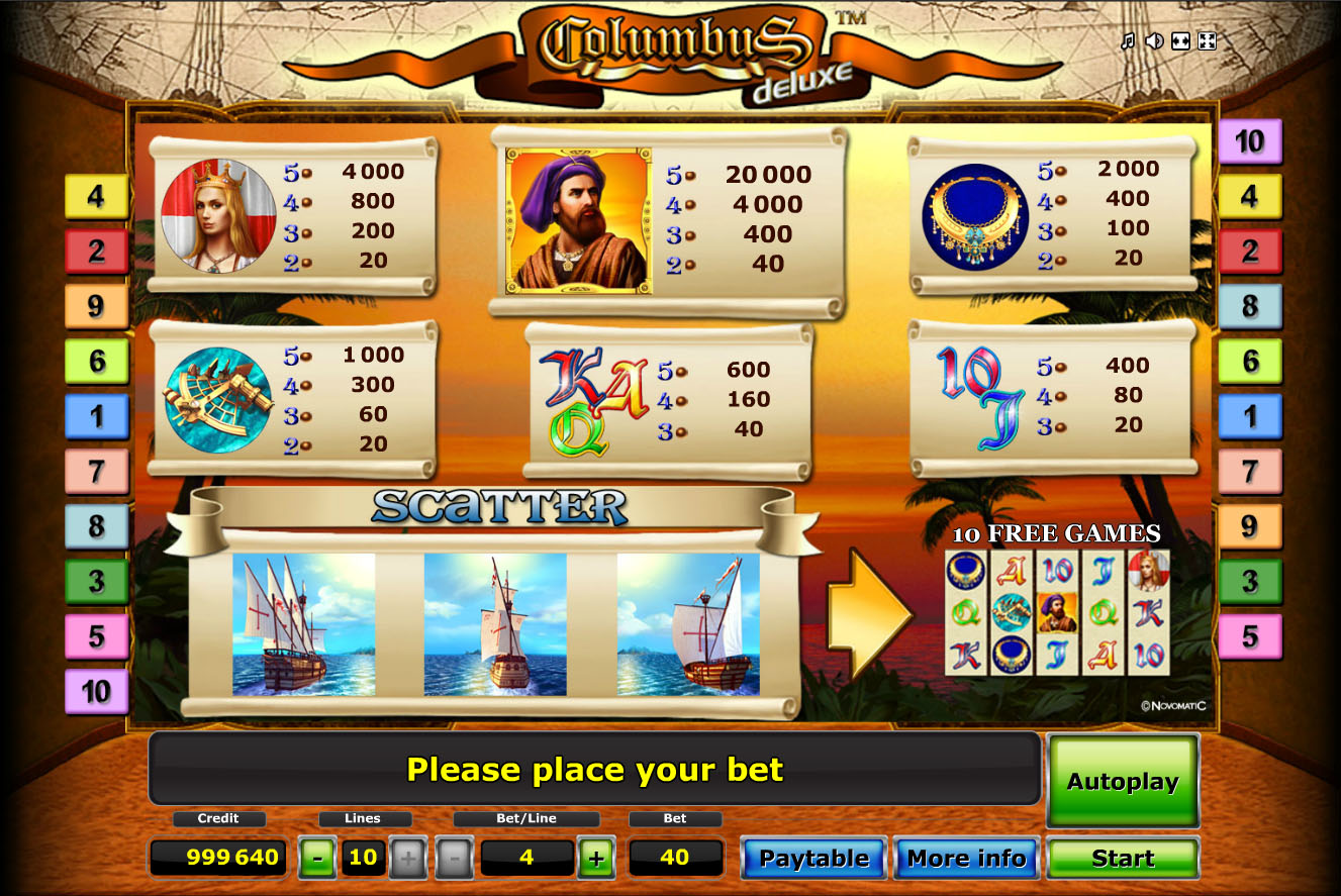 Slot machine columbus