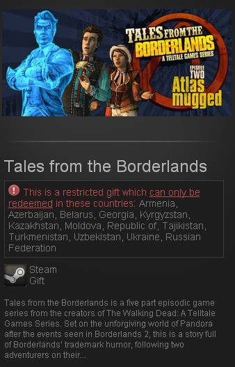 Tales from the Borderlands STEAM GIFT RU/CIS