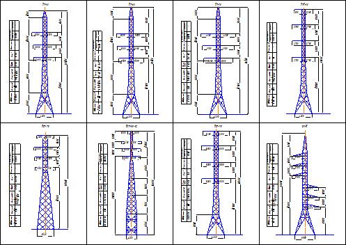 Описание: Схема опоры ЛЭП 110