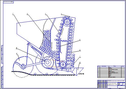 Картофелесажалка для культиватора своими руками размеры чертеж картинки