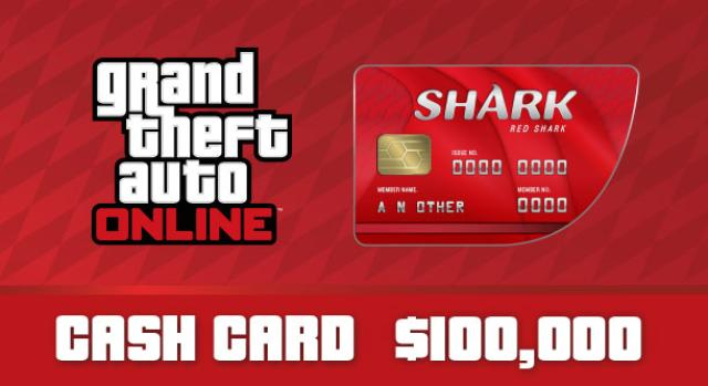 Grand Theft Auto Online: Red Shark Cash Card $ 100 000