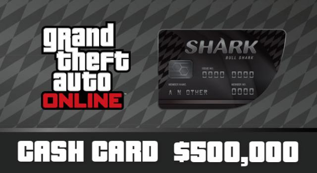 Grand Theft Auto Online: Bull Shark Cash Card 500 000$