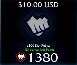 Купить Riot Points League of Legends (USA) - Выгодный курс
