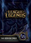 25$ League of Legends US Game Card - Best offer