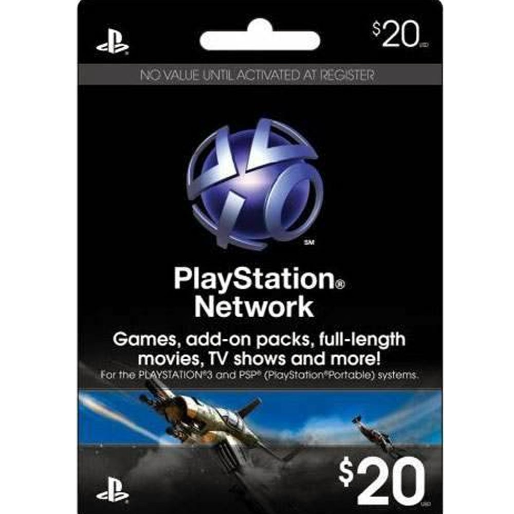 Купить 20$ (USA) PLAYSTATION NETWORK (PSN)