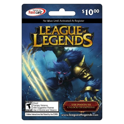 10$ 1380 RP League of Legends US Game Card - Best offer