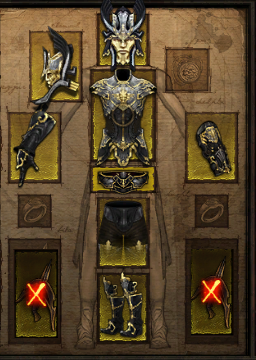 Купить Diablo 3 -  Комплект одежды демон хантер 40-55лвл