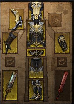 Купить Diablo 3 -  Комплект одежды варвар/крестоносец 40-46лвл