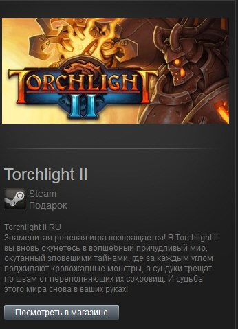 Torchlight II (steam gift Free ROW)