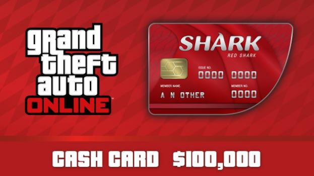 GTA Online: Red Shark Cash Card - 100.000$