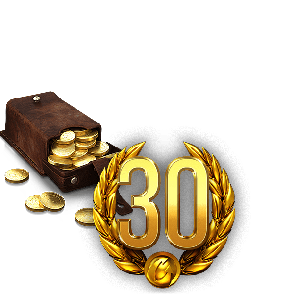 2500 gold + 30 days premium, World of Tanks (RU)