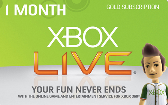 XBOX LIVE GOLD CARD 1 МЕСЯЦ - RU/EU/USA (SCAN)