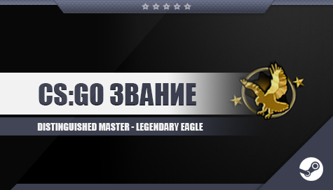 Купить CS;GO Звание [Distinguished Master - Legendary Eagle]