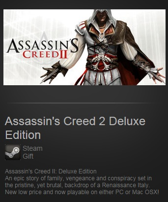 Assassins Creed 2 Deluxe Edition (Steam / Region Free)