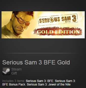 Serious Sam 3 BFE Gold (Steam / Region Free)