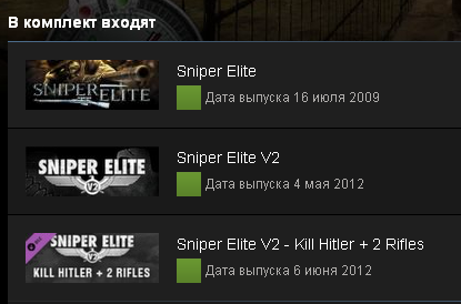 Sniper Elite Franchise Pack (Steam Gift, Region Free)