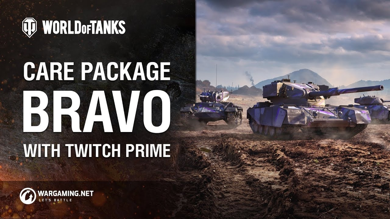 Buy Twitch Prime World of Tanks: Care Package Bravo WOT and