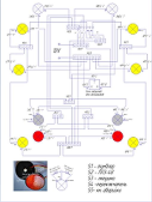 Электрическая схема (детский автомобиль Виллис)
