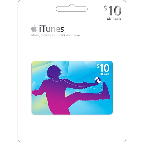 iTUNES Gift Card $10 (App Store USA) Скан