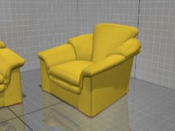 3D models of furniture, sofa and chair Contempo