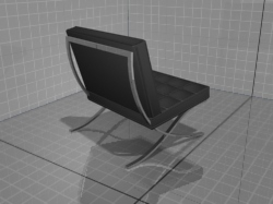 3D models of furniture, chair + ottoman Tekno